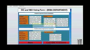 VOTING SYSTEM - USING MS ACCESS 2010 - YouTube