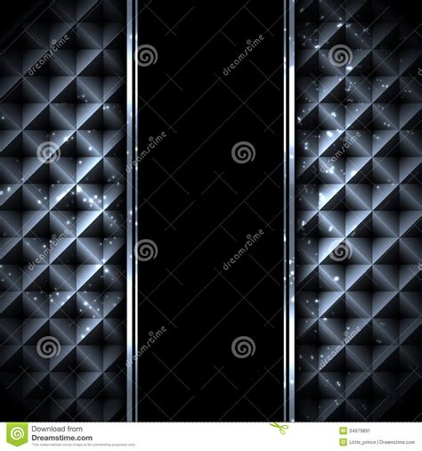Abstract Black Metal Background by Black Metal Technology Abstract Background Stock Image