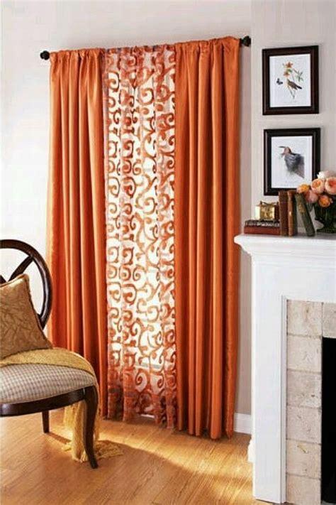 textile thursday decorating  orange curtains