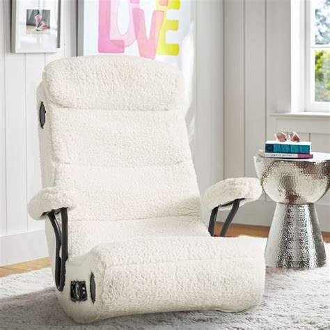Ivory Sherpa Got Game Chair Pbteen