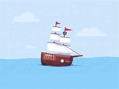 Boaty Animation Boat Mcboatface Sailing Giphy Gifs
