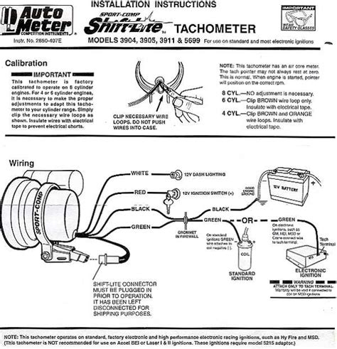 wiring diagram for autometer tachometer 39 wiring