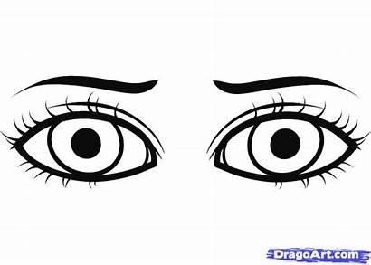 Eye Coloring Pages Eyes Cartoon Human Drawing