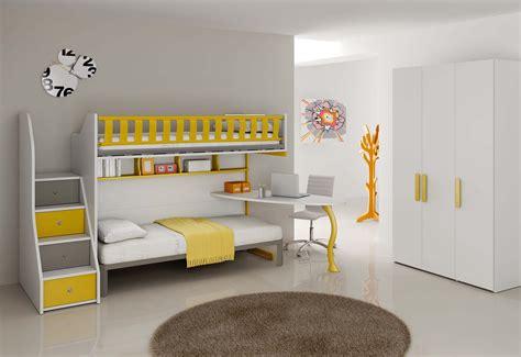 lit superposé canapé chambre enfant complète lits superposés compact