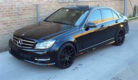 Mercedes-benz C-class On Black Luxury Rims