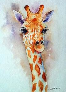 Watercolor Giraffe Abstract Giraffe Art an Watercolor ...
