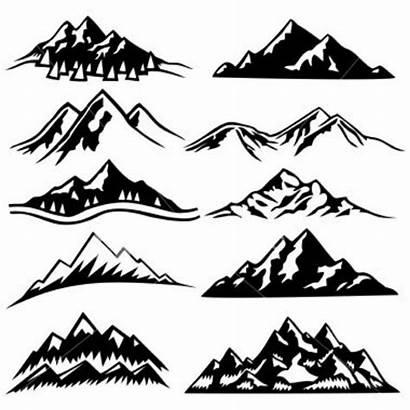 Mountain Range Tattoo Outline Mountains Silhouette Sketch