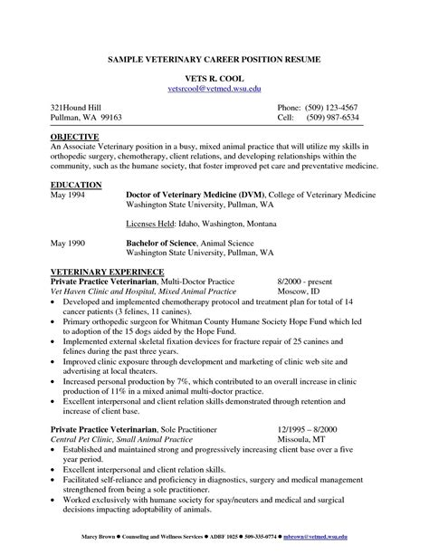 resume templates for animal science cv template veterinary student 1 cv template student
