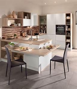 Ilot Bar Cuisine : cuisine avec coin repas table bar lot pour manger ~ Melissatoandfro.com Idées de Décoration