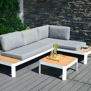 Salon Jardin Angle : canape ~ Teatrodelosmanantiales.com Idées de Décoration