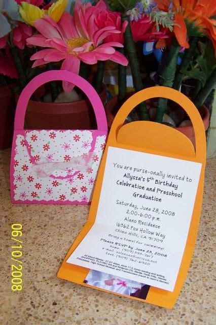 birthday purse invitation  suacalano