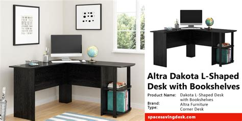 altra dakota l shaped desk with bookshelves review space
