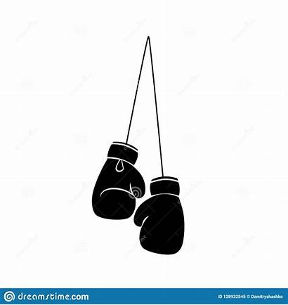 Boxing Gloves Silhouette Hanging Clipart Icon Siluetta