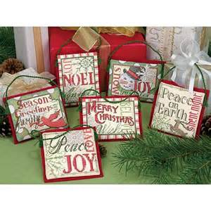 counted cross stitch ornaments christmas sayings 6599144 hsn