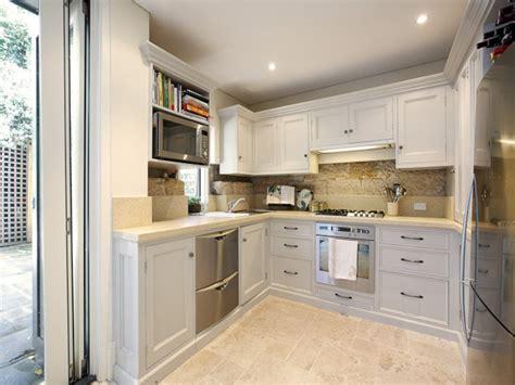 modern  shaped kitchen design  tiles kitchen photo