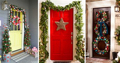 unique holiday door decor 50 best door decorations for 2019