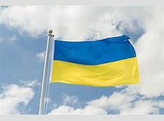 Ukraine Fahne kaufen 90 x 150 cm FlaggenPlatzde