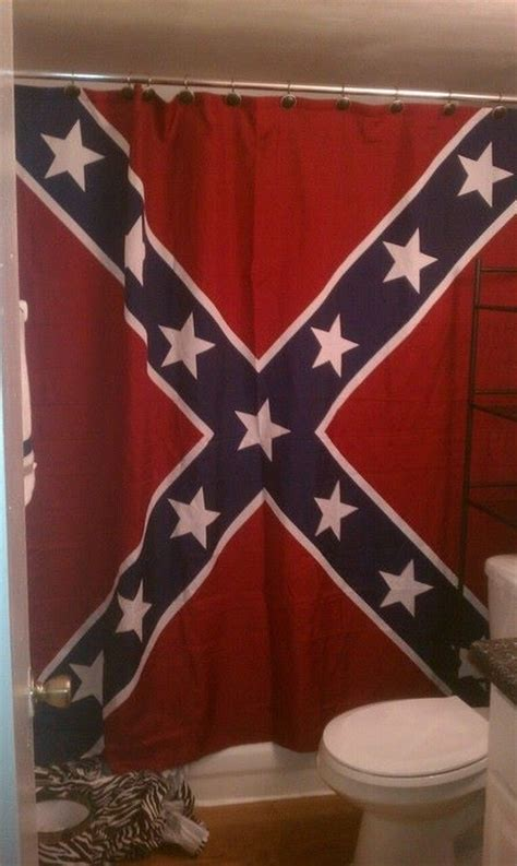 confederate rebel battle flag shower curtain 70 x 72 inches