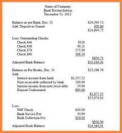 11 Bank Reconciliation Statement Format Bussines