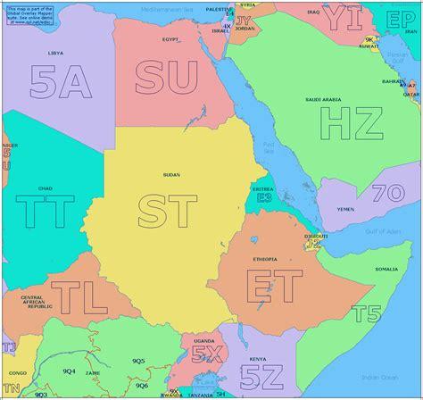 east african prefix map