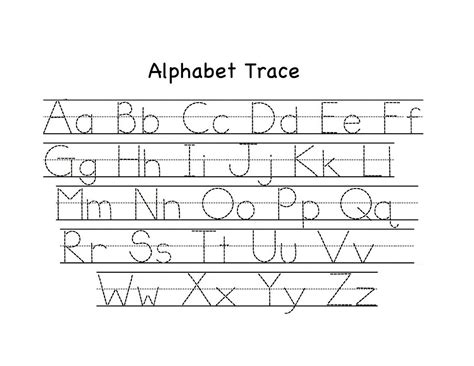 traceable upper  lowercase alphabet alphabet