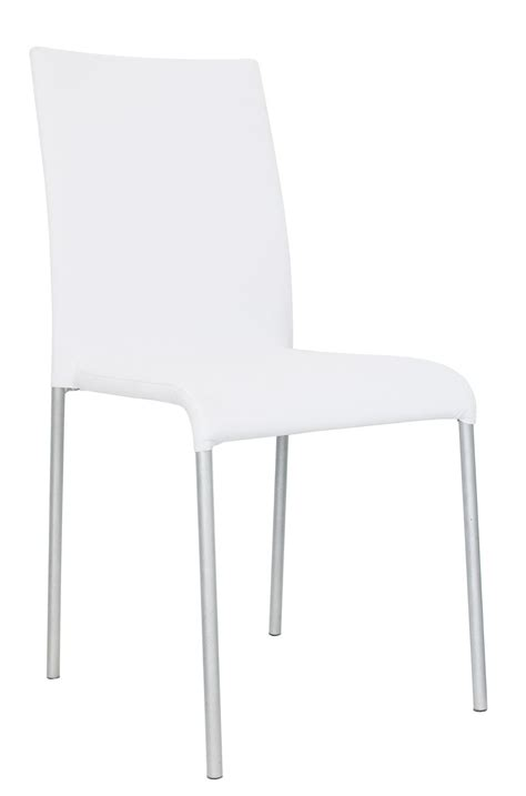 chaise lot de 6 chaise design métal tissu blanc lot de 6 krissy