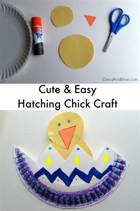 fun spring crafts  kids hatching chick