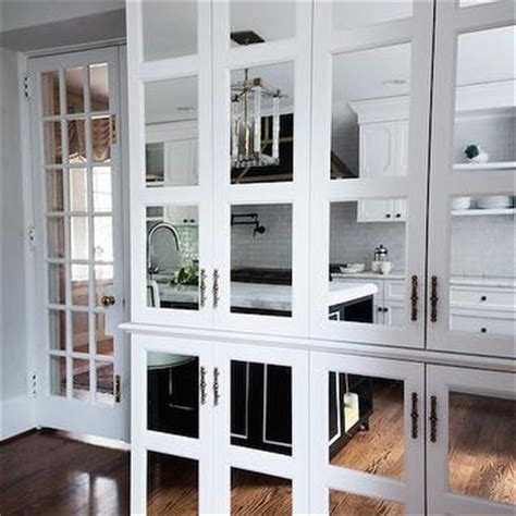 kitchen cabinets with mirrored doors floor to ceiling cabinets design ideas