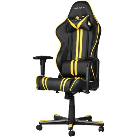dxracer gaming chairs uk dxracer racing series gaming chair yellow stripes oh rf9