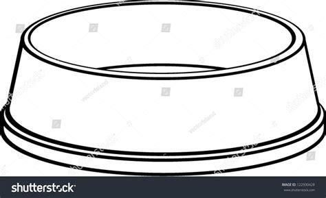 Dog Bowl Stock Vector 122930428 - Shutterstock