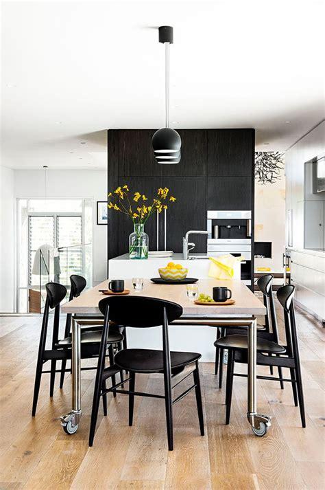 modern monochrome kitchen home beautiful magazine australia