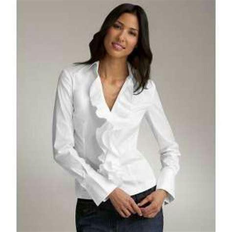 ruffled white blouse pink ruffle shirt my closet