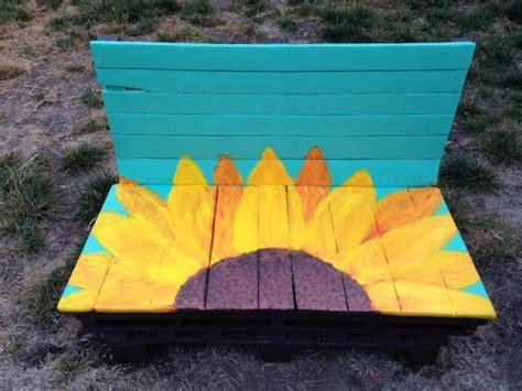 sunflower pallet bench  pallets