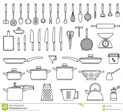 location ustensile de cuisine outils et ustensile de cuisine illustration de vecteur