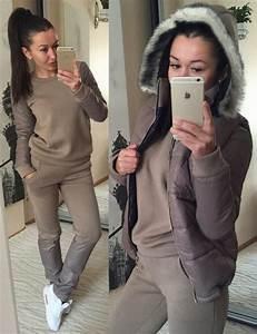 Jumpsuit zefinka joggers tracksuit beige winter outfits winter tracksuit sportswear ...