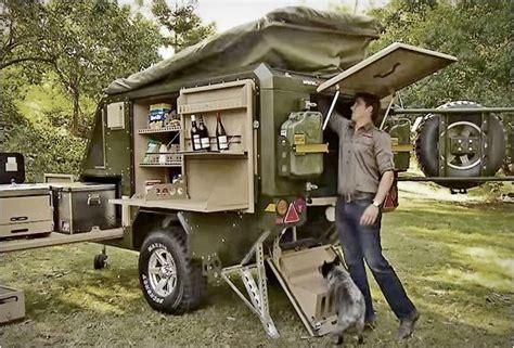 conqueror uev   road camper trailer  road