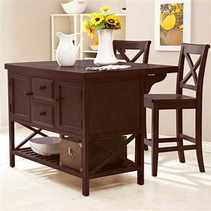 Black wooden kitchen islands with white marble counter top for The best portable kitchen island with seating