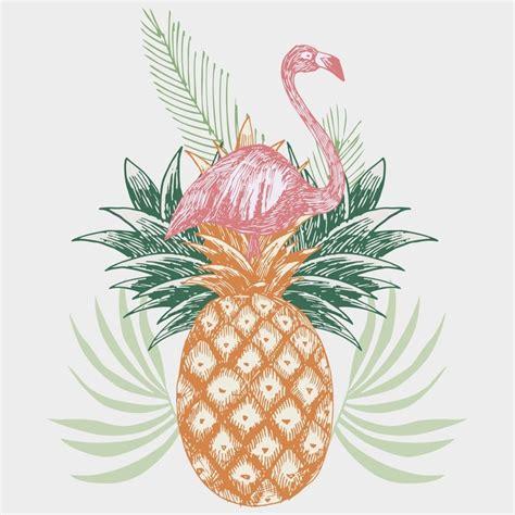 Tapisserie Flamant by Papier Peint Flamant Sur Imprim 233 Tropical Ananas