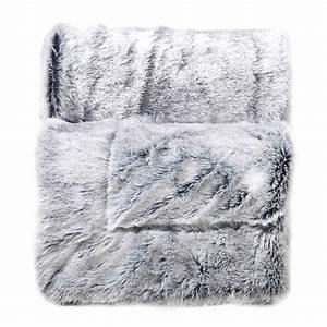 Plaid Fausse Fourrure Gris : plaid fausse fourrure 150 cm antartic gris plaid ~ Teatrodelosmanantiales.com Idées de Décoration