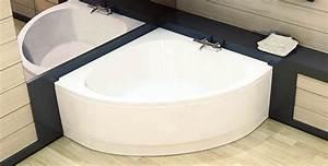 baignoire d39angle gagner de la place dans sa salle de With salle de bain avec baignoire d angle