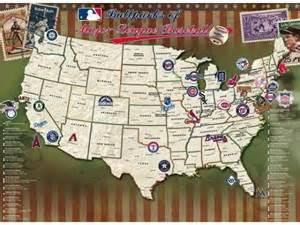 Major League Baseball Stadium Map