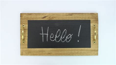 Create A Chic Chalkboard Serving Tray