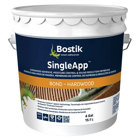 bostik wood floor glue shop bostik singleapp brown flooring adhesive flooring adhesive 4 gallon at lowes com