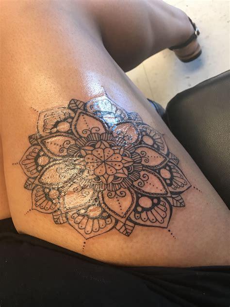 mandala thigh tattoo tattoos pinterest tattoos