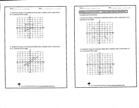18 best images of dilation worksheets for 8th grade 8th