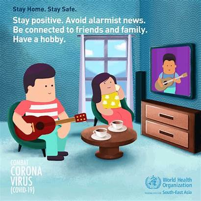 Stay Healthy Positive Staying Covid Safe Coronavirus