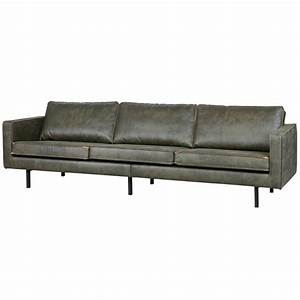3 Sitzer Leder : 3 sitzer sofa rodeo armee gr nes leder 85x277x86cm ~ Indierocktalk.com Haus und Dekorationen