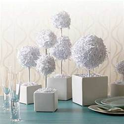 centerpieces for a wedding diy project paper topiaries centerpieces diy weddings magazine