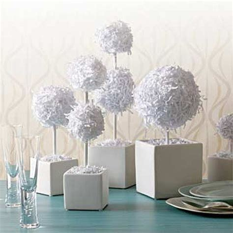 paper centerpieces for tables diy project paper topiaries centerpieces diy weddings