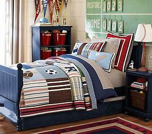 Catalina cottage bed navy pottery barn kids for Catalina bedroom set pottery barn